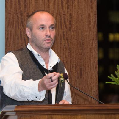 Colum McCann speaks at New York launch