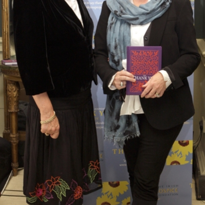 Eileen Pearson (left) Thank You book launch Oct 21 2010.jpg