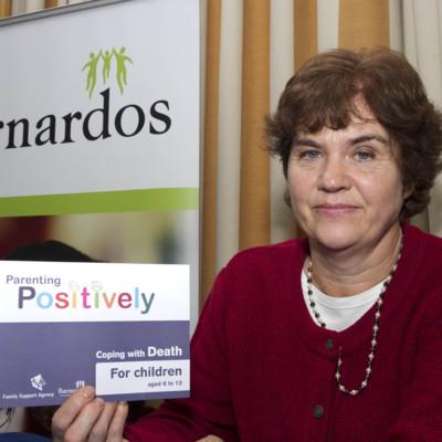 A representative from Barnardos at Living with Loss 2014