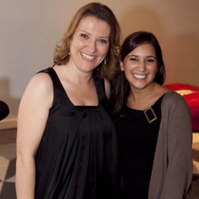 Sharon Foley & Kirana Bhagwan Hospice Uganda Premier Nov 2011.jpg