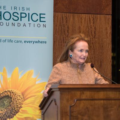Loretta Brennan Glucksman speaks at New York launch