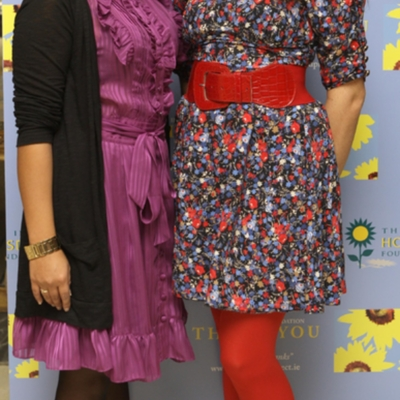 Kirana Bhagwasn (left) Thank You book launch Oct 21 2010.jpg