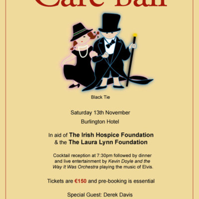 Poster for Children's Hospice Care Ball November 13th 2004.