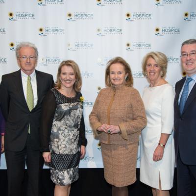 Jean McKiernan, Michael O'Reilly, Sharon Foley, Loretta Brennan Glucksman, Vivienne Jupp and Kieran McLoughlin at The Gathering book launch in NYC
