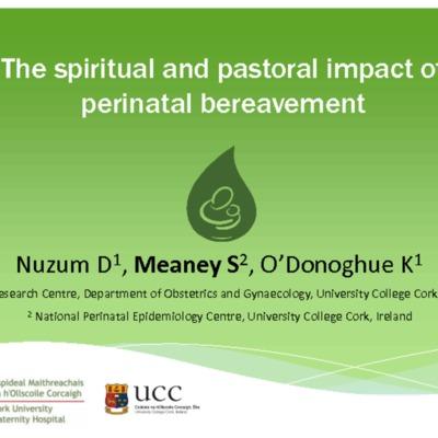 The spiritual and pastoral impact of perinatal bereavement.