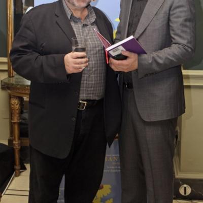 Bill Hughes (left) Thank You book launch Oct 21 2010.jpg