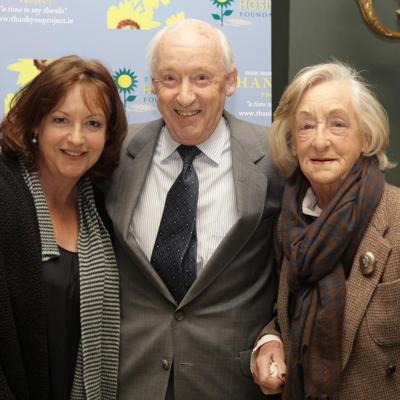Lise-Ann McLaughlin (left) George Byrne, Joan McLaughlin Thank You Book Launch Oct 10 2010.jpg