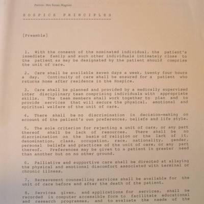 Original Hospice Principles Charter