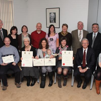Postgrad Dip 2009 2010 Dec Grad w staff.jpg