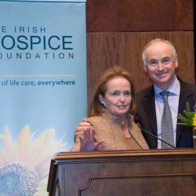 Loretta Brennan Glucksman and John Fitzpatrick